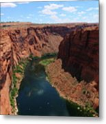 Colorado River At Glen Canyon Dam Metal Print