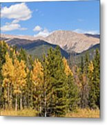 Colorado Rockies National Park Fall Foliage Panorama Metal Print