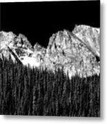 Colorado Rocky Mountains Indian Peaks Fine Art Bw Print Metal Print