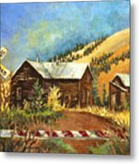 Colorado Shed Metal Print