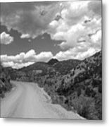 Colorado Shelf Road 1 B-w Metal Print