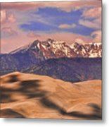 Colorado's Great Sand Dunes Shadow Of The Clouds Metal Print