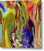 Colorburst Vase Metal Print