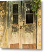 Colorful Zeytinli Village Door Metal Print