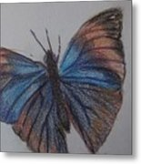 Colored Butterfly Metal Print