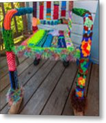 Colored Chair Metal Print
