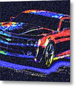 Colored Chevy Faa2 Metal Print