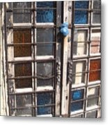 Colored Door Metal Print