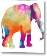 Colored Elephant Painting Metal Print