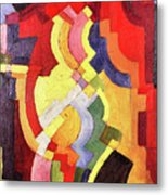 Colored Forms IIi By August Macke Metal Print