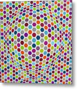 Colored Geometries Metal Print