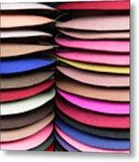 Colored Hat Brims Metal Print