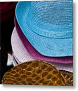 Colored Hats Metal Print