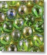 Colored Marbles Metal Print