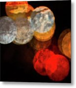 Colored Moons 1 Metal Print