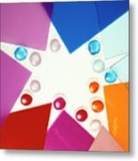Colored Plexiglas Shapes Metal Print