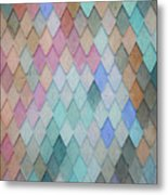 Colored Roof Tiles - Painting Metal Print
