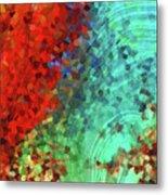 Colorful Abstract Art - Rejoice - Sharon Cummings Metal Print