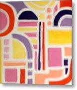 Colorful Abstract Art - Urban Maze Metal Print