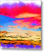 Colorful Abstract Sunset Metal Print