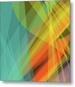 Colorful Abstract Vector Background Banner, Transparent Wave Lin Metal Print