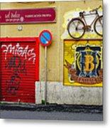 Colorful Advertising In Palma Majorca Spain Metal Print