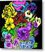 Colorful Art Love Bouquet Metal Print