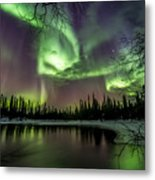 Colorful Auroras Metal Print
