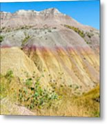 Colorful Badlands Of South Dakota Metal Print