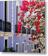 Colorful Balconies Of Old San Juan Puerto Rico Metal Print