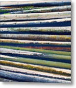 Colorful Bamboo Metal Print by Wim Lanclus