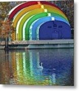 Colorful Bandshell And Swan Metal Print
