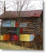 Colorful Barn Metal Print