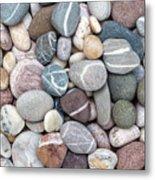 Colorful Beach Pebbles Metal Print