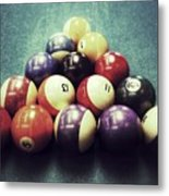 Colorful Billiard Balls Metal Print