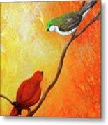 Colorful Bird Art Metal Print