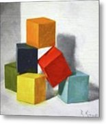 Colorful Blocks Metal Print