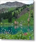 Colorful Blue Lakes Landscape Metal Print