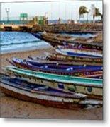 Colorful Boats Metal Print