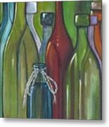 Colorful Bottles Metal Print