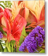 Colorful Bouquet Of Flowers Metal Print