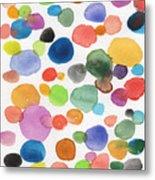 Colorful Bubbles Metal Print