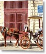 Colorful Cabs Of Malta Metal Print