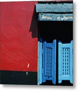 Colorful Caribbean Door Metal Print