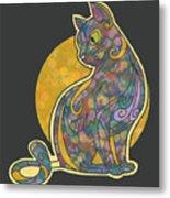 Colorful Cat Art Metal Print