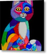 Colorful Cats And Kittens Metal Print