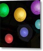 Colorful Chinese Lanterns Metal Print