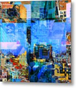 Colorful City Collage Metal Print