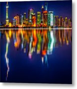 Colorful City Reflection 17 06 2015 Metal Print