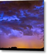Colorful Cloud To Cloud Lightning Metal Print